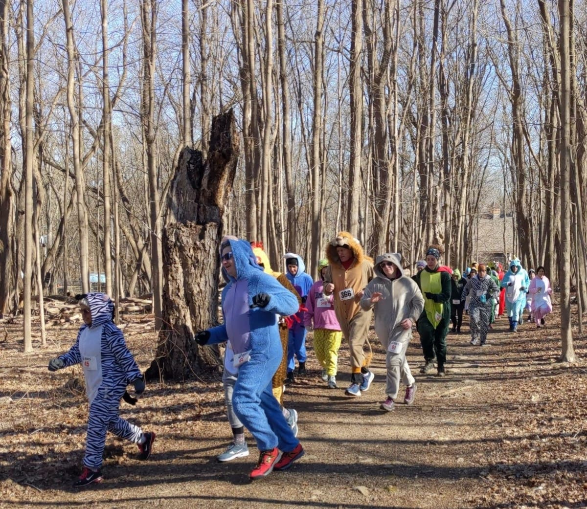 Runners Brave The Cold In Onesies At Mahwah 5K