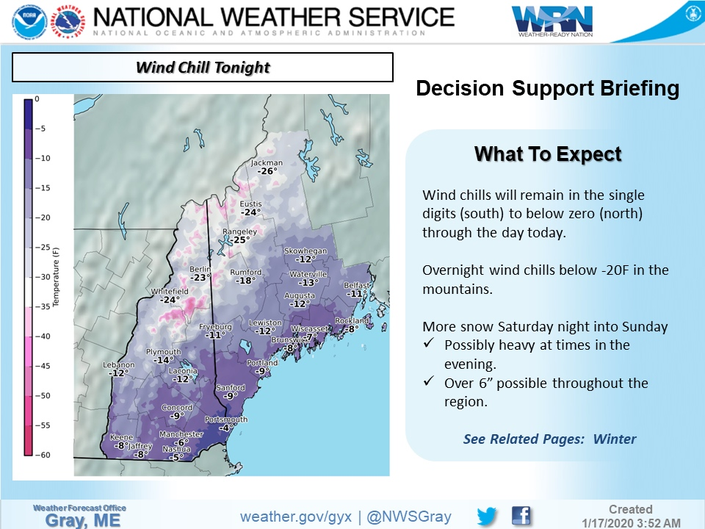 Bitter Cold Friday; Weekend Snowstorm Coming To New Hampshire