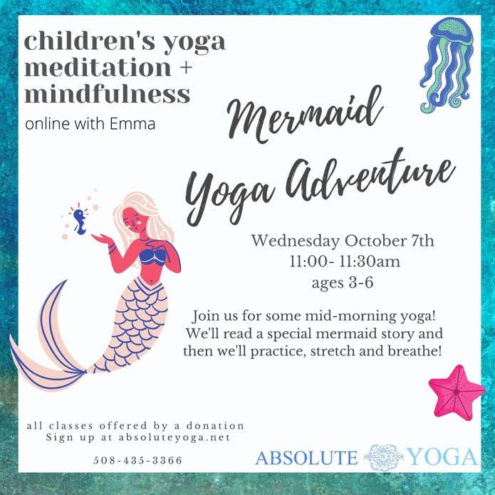 Mermaid Children's Yoga Adventure! Ages 3-6