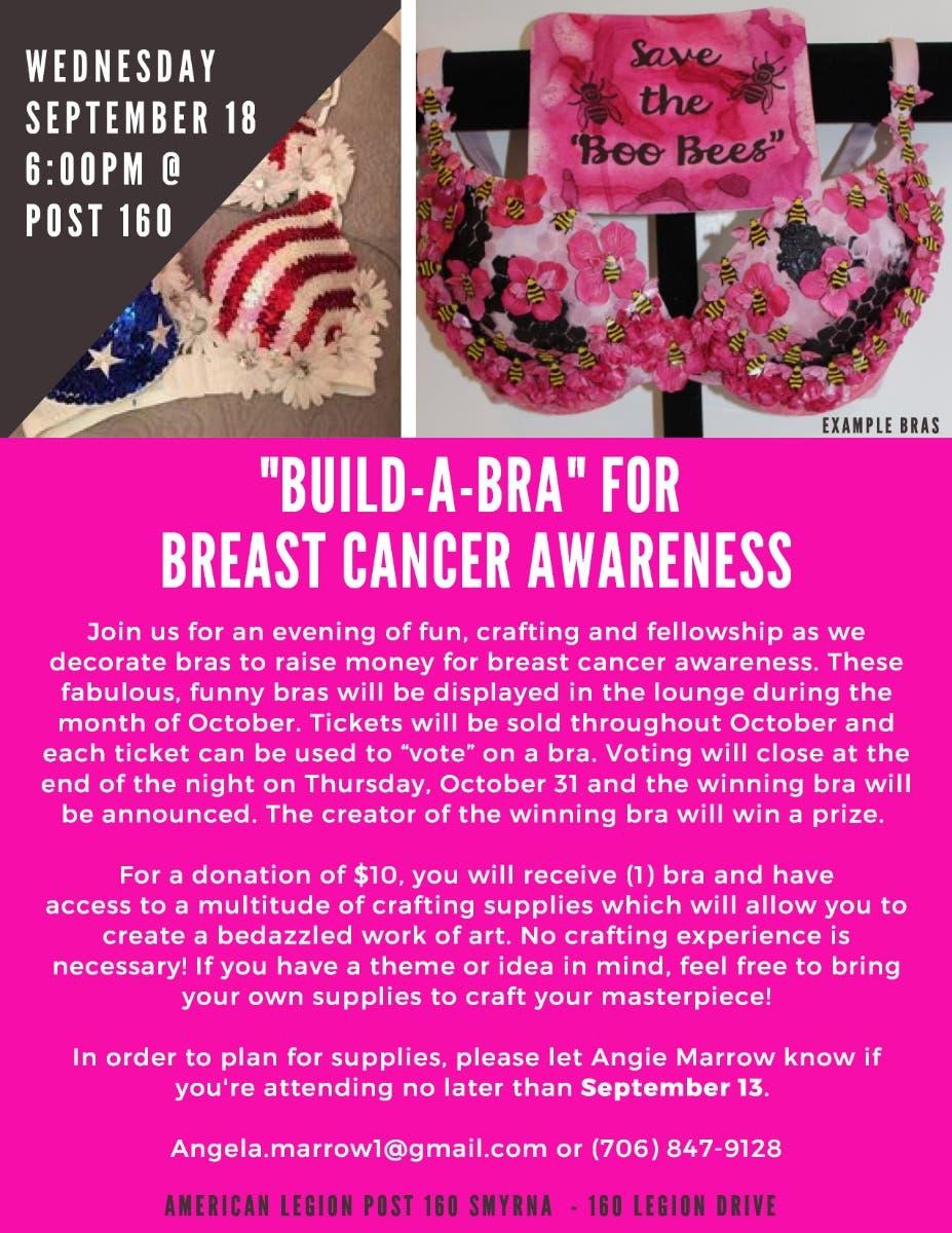 Sep 18 Build A Bra For Breast Cancer Awareness Smyrna