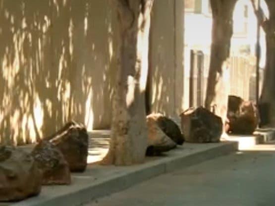 Boulders Put On SF Sidewalk To Drive Away Homeless