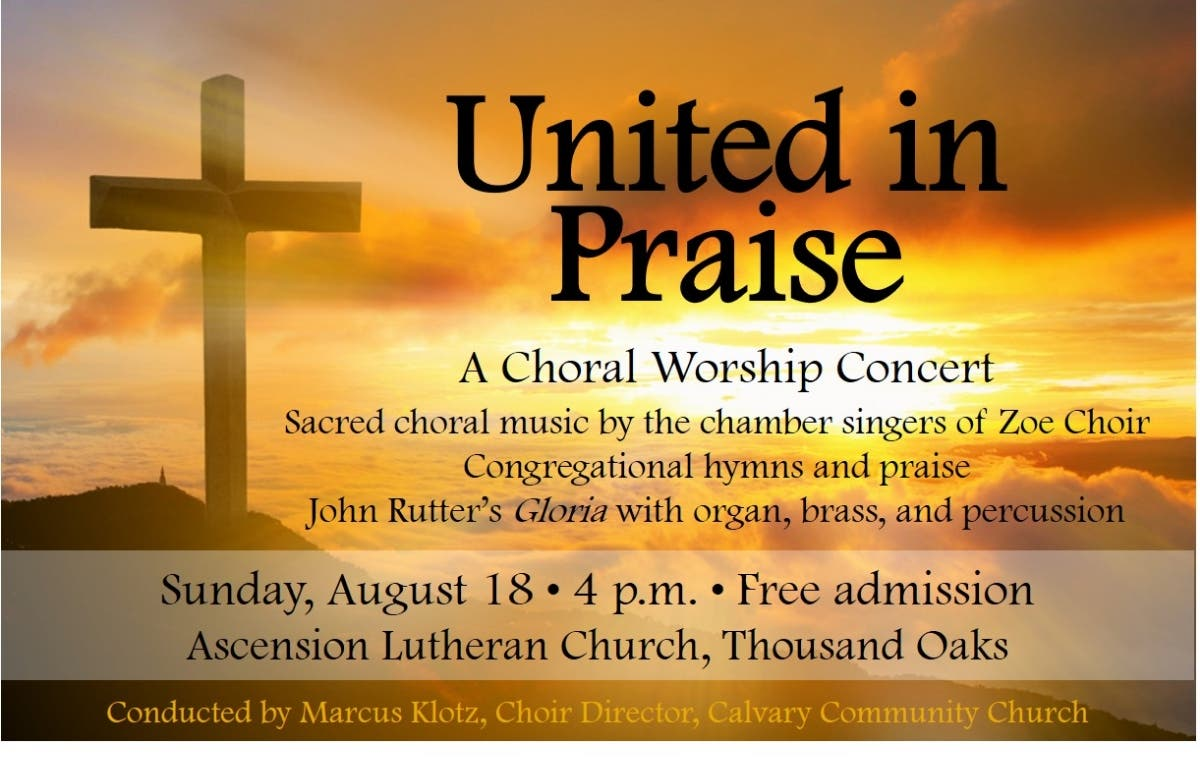 Aug 18 | Free Choral Worship Concert and John Rutter's