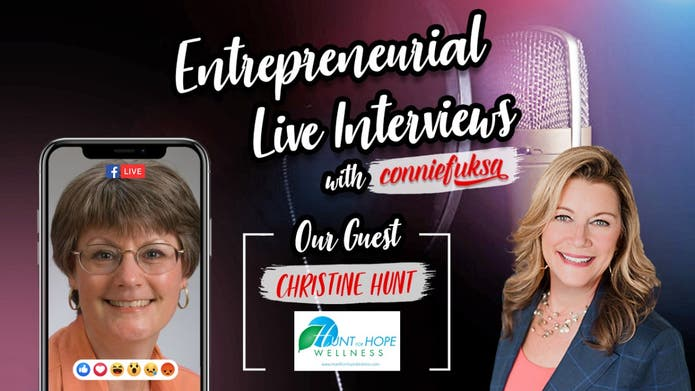 LIVE interview with Life Wellness Coach, Christine Hunt