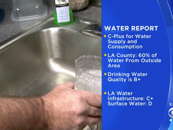 Water In Los Angeles County Receives C+ Grade