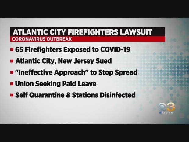 Atlantic City Firefighters Sues City, New Jersey Over Coronavirus Handling