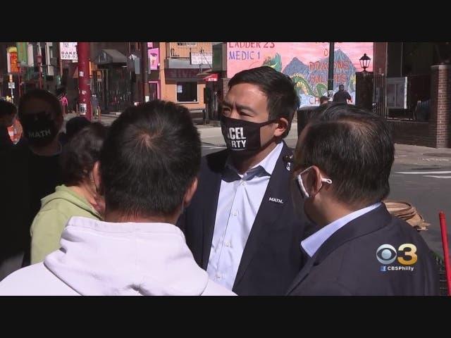Andrew Yang, Sen. Cory Booker Campaign For Joe Biden In Philadelphia