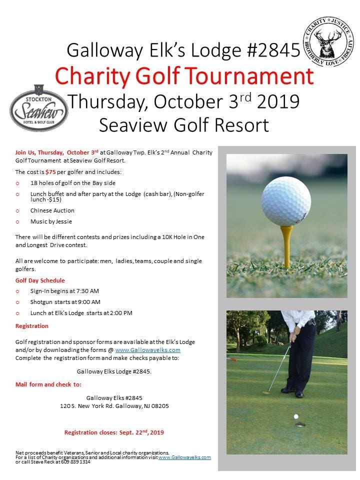 Oct 3 Galloway Elk S Charity Golf Tournament Galloway Nj Patch