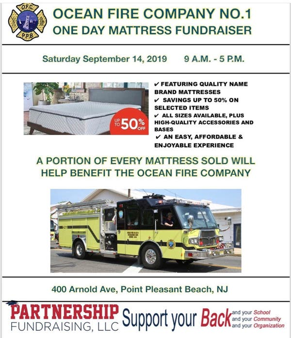 Sep 14 Ocean Fire Company Number 1 Mattress Fundraising