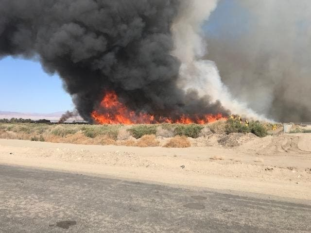 Two Fires On Torres-Martinez Reservation Burn Close To 100 Acres