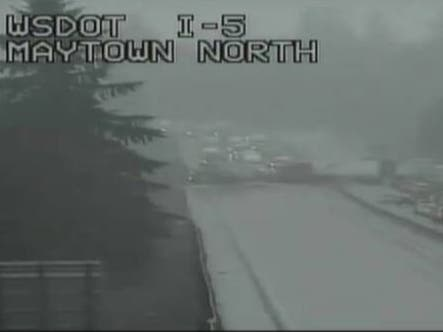 Major Crash Blocks All Lanes Of Interstate 5 Near Maytown