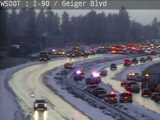 Dozens Of Cars Involved In Crashes Outside Spokane