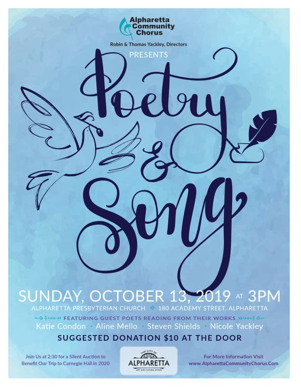 Silent Auction & Poetry and Song Concert