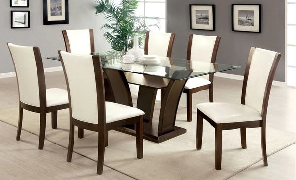 Tremendous Elegant Glass Dining Table With Four Chairs And A Bench Ibusinesslaw Wood Chair Design Ideas Ibusinesslaworg