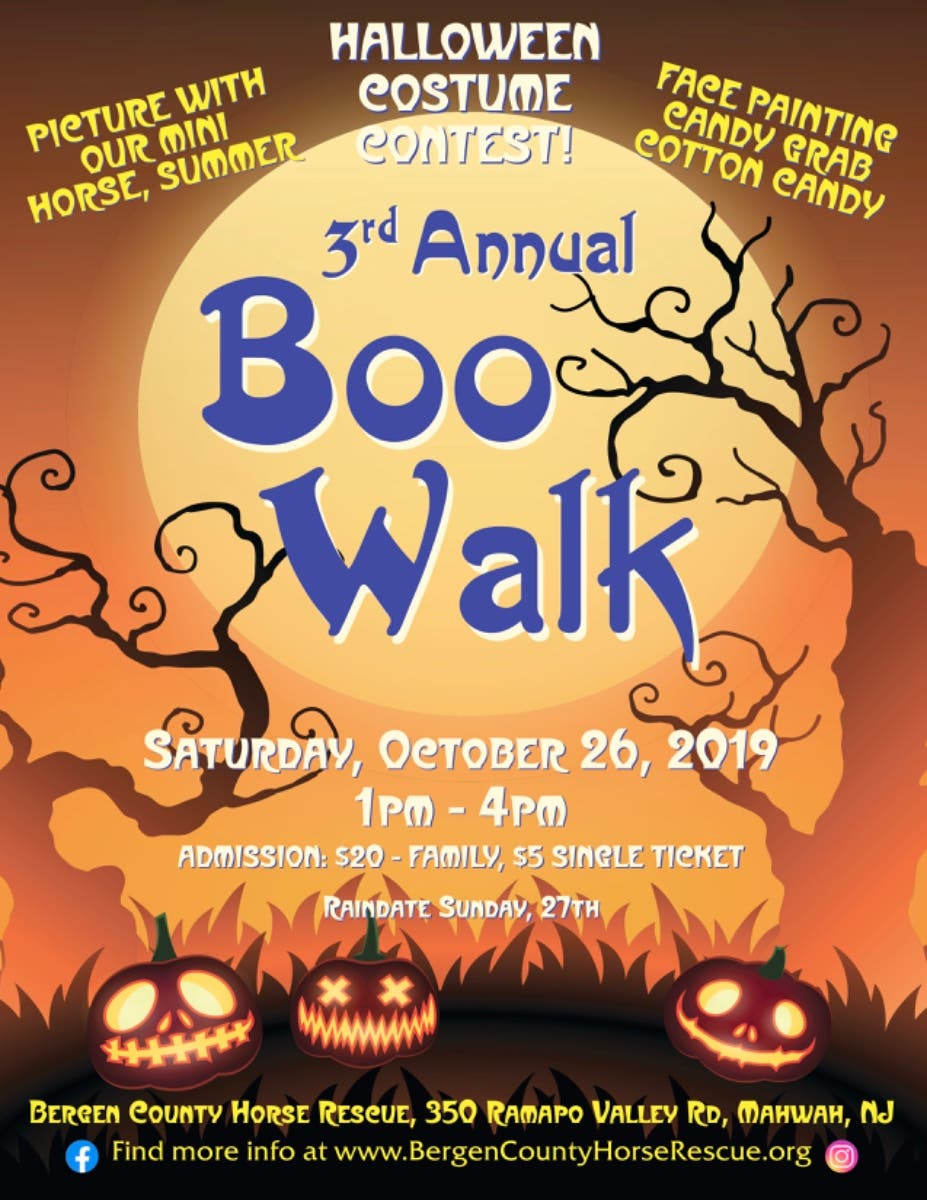 Halloween October 26th 2020 Events Bergen County Oct 26   3rd Annual Boo Walk   Mahwah, NJ Patch