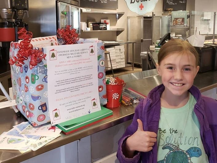 Marietta Girl, 9, Sends Nearly 800 Cards To Military Troops