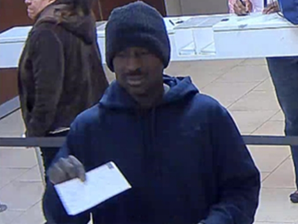 Bank Robber Arrested The Next Day After Fleeing On Foot With Cash