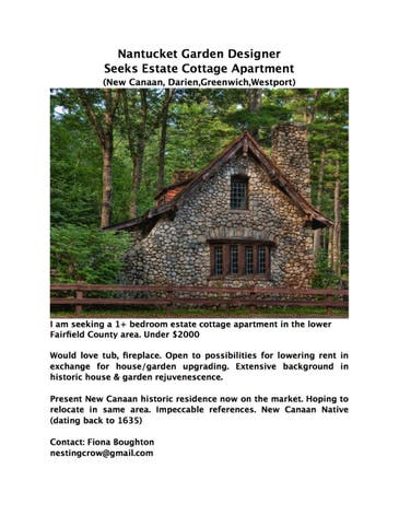Nantucket Cottage Garden Designer Seeking Estate Cottage Rental Wilton Ct Patch