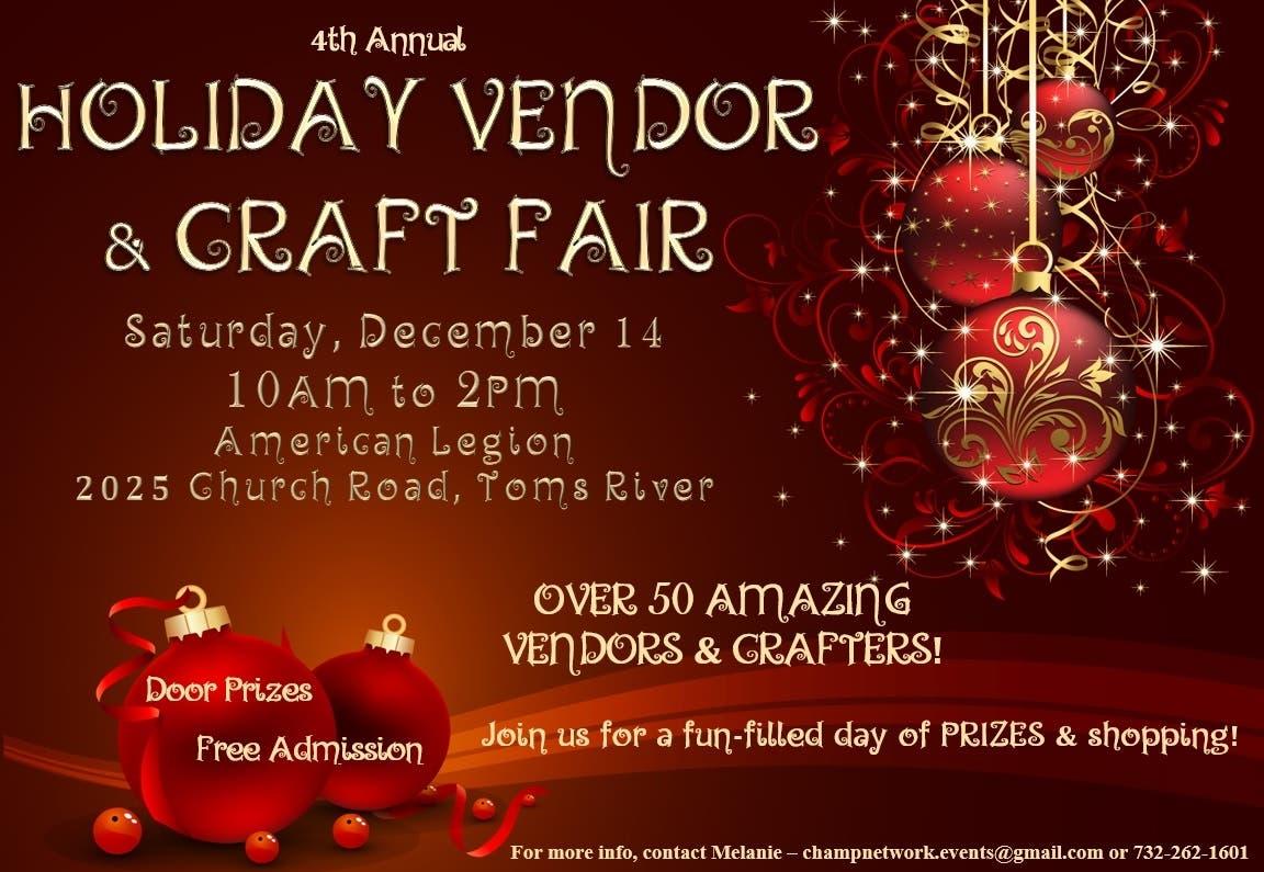 Dec 14 Holiday Craft Vendor Fair Toms River Nj Patch