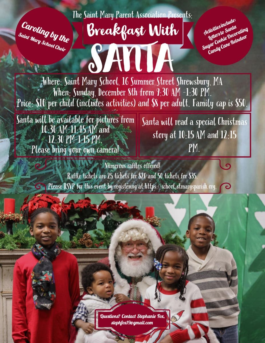 Dec 8 | Breakfast with Santa | Grafton, MA - Patch.com