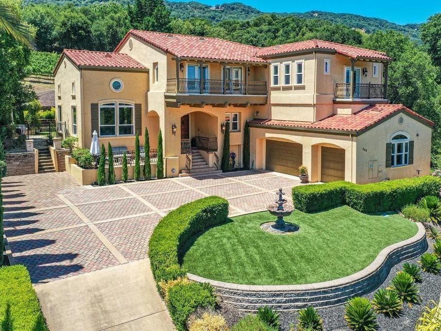 Pleasanton Home Has Curb Appeal In Front, Vineyard In Backyard