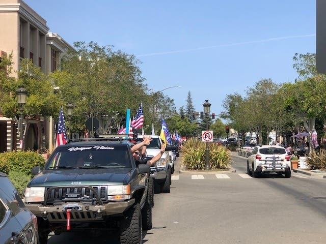Tri-Valley 'Trump Truck' Rally Draws Hundreds Of Cars