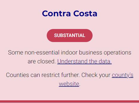 Contra Costa Moves Into More Restrictive Coronavirus Tier Walnut Creek Ca Patch
