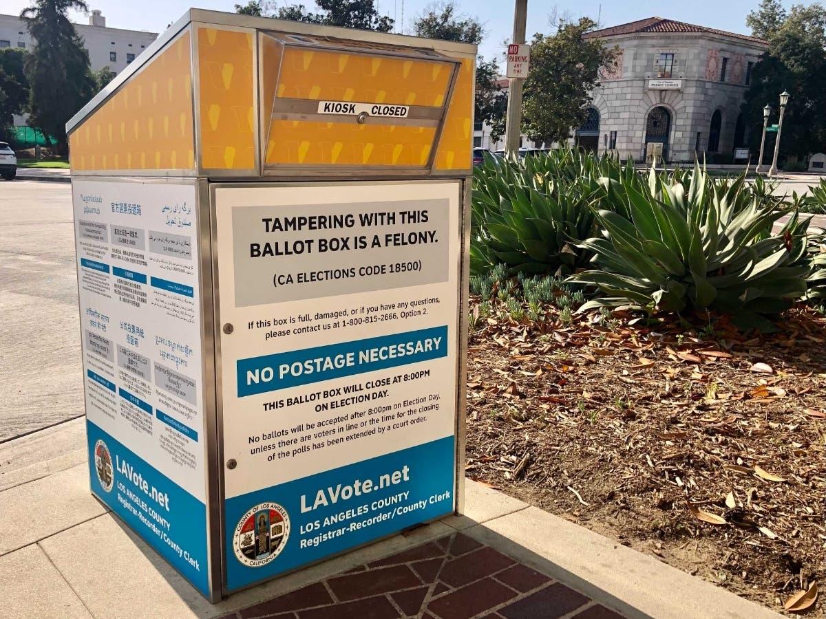 Ballot Drop Boxes Near Santa Cruz: CA Recall