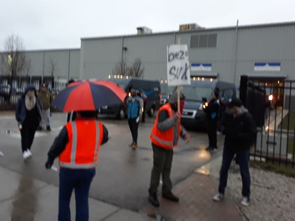 Cars Picket For Amazon Workers Striking For Coronavirus Safety
