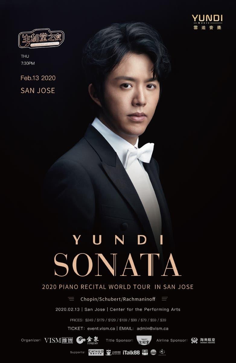 Feb 13 Yundi Sonata 2020 Piano Recital World Tour In San Jose Cupertino Ca Patch