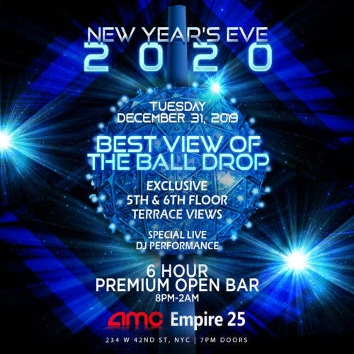 Dec 31 New Years Eve At Amc 42nd Street With Live View