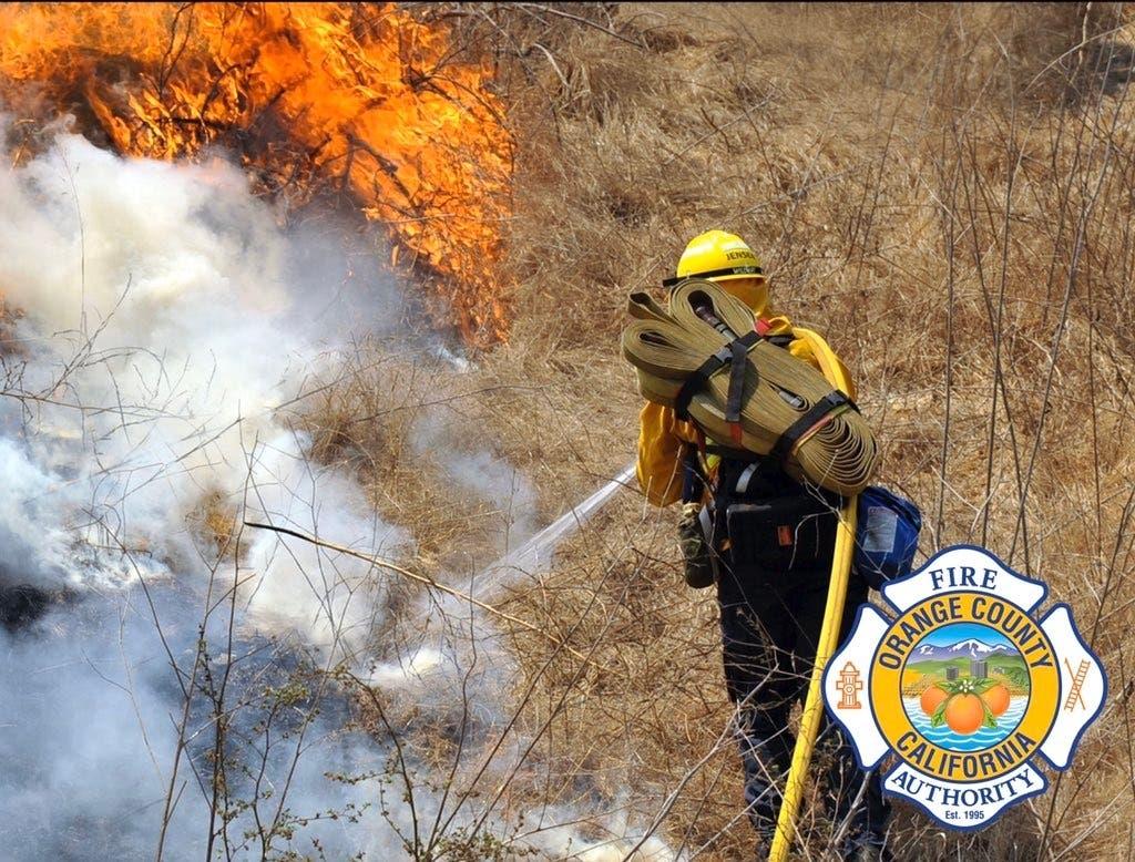 Crews Knock Down Brush Fire At Irvine Regional Park In Orange