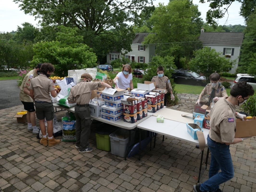 Troop 167 Delivers 1,500 Food Packages To Families In Need