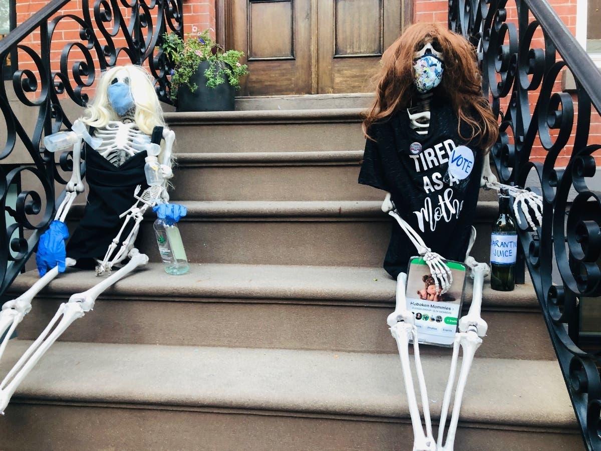 Halloween Decor In Hoboken Shows Tired Parents Amid Quarantine