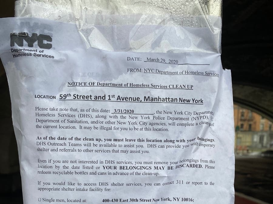 NYC Forces Homeless Off Streets Despite Coronavirus Shelter Fears