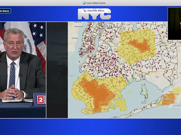 Maps show the borders of a new color-coded, tiered closure system that takes effect Thursday in Brooklyn and Queens.