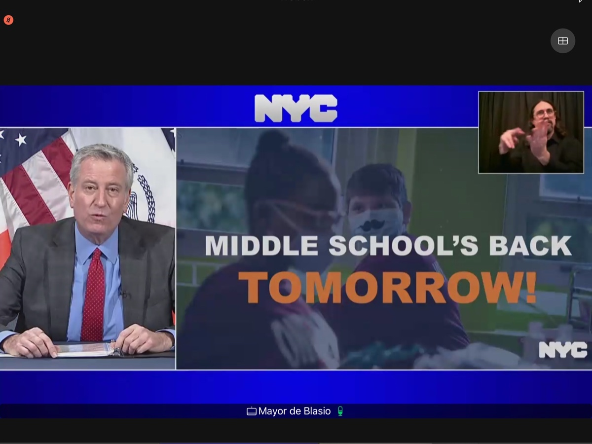 NYC Middle Schools Poised To Reopen: Here's What You Need To Know