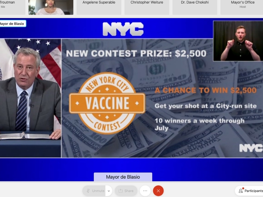 A Shot At $2,500: Here's NYC's Latest COVID Vaccine Incentive