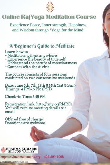 Jun 6 | Online Rajyoga Meditation Course | Union City, CA ...