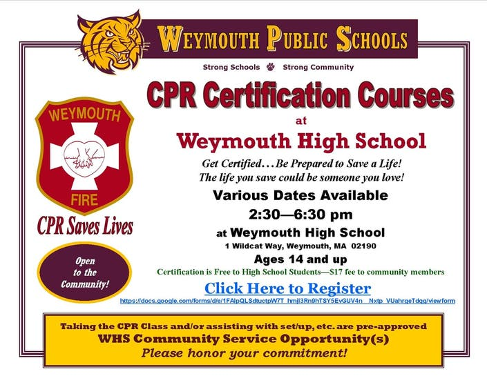 cpr certification courses whs patch training course