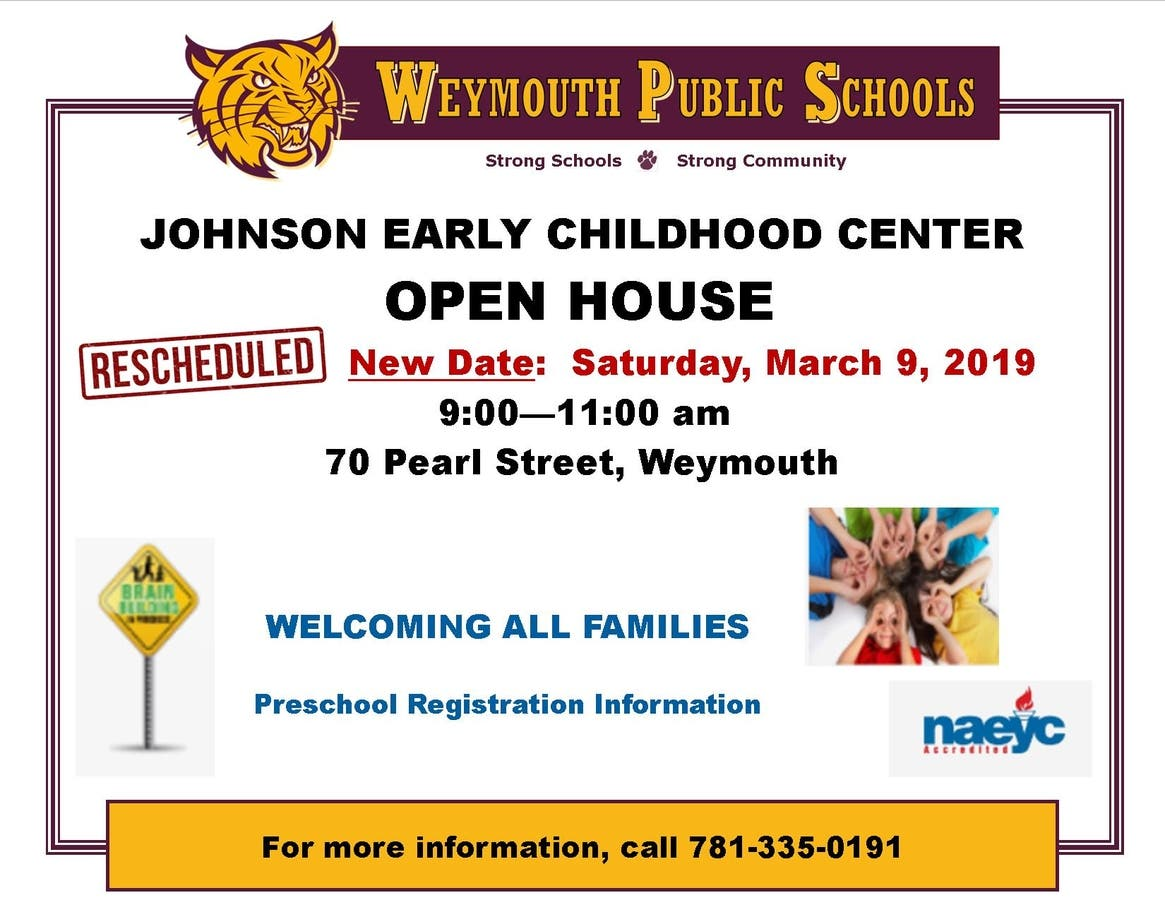 Johnson Early Childhood Center - Open House | Weymouth, MA Patch