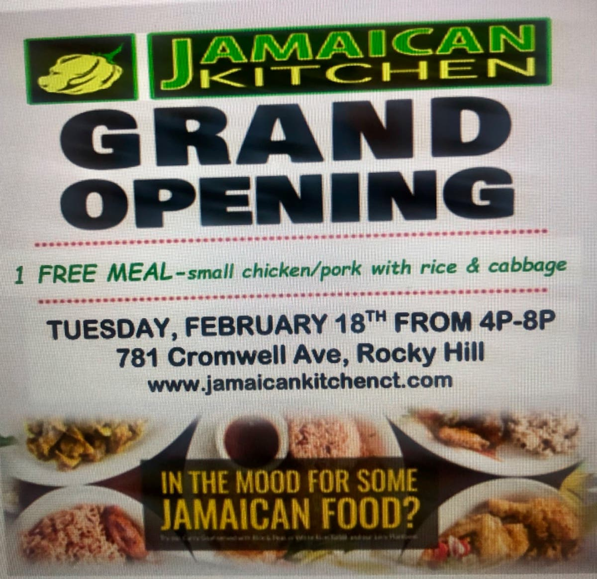 Feb 18 Jamaican Kitchen Opening Party Rocky Hill Ct Patch