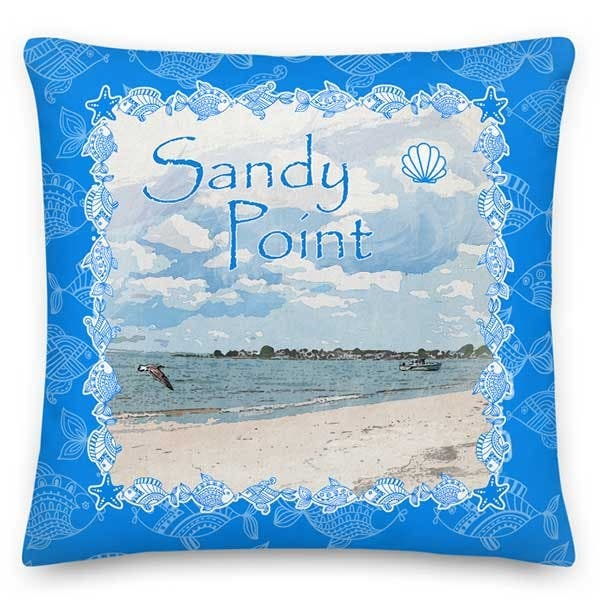 Sandy Point 18x18 Throw Pillow For Your Ct Ri Coastal Home Stonington Ct Patch