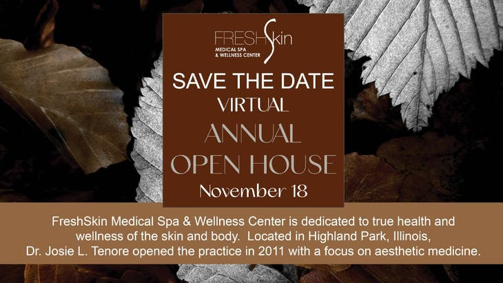 Virtual Annual Holiday Open House at FreshSkin