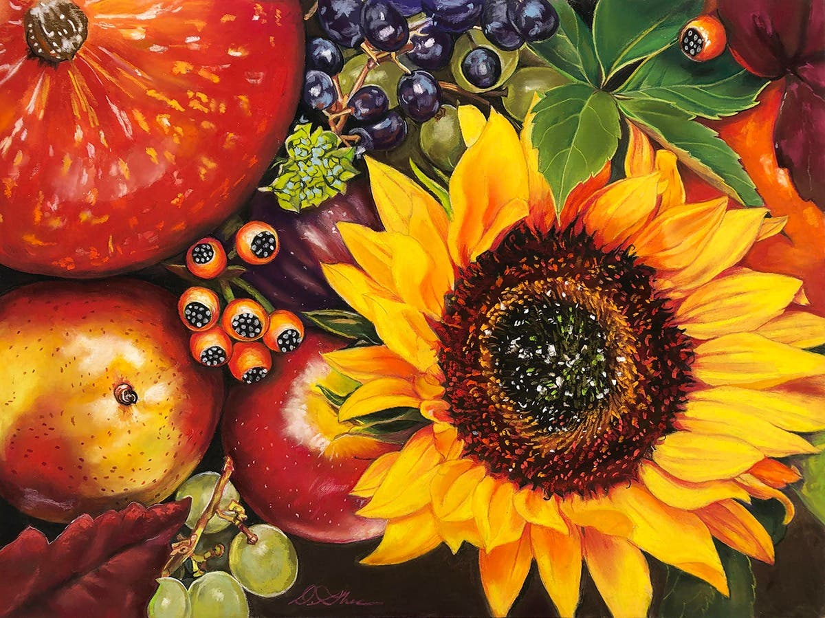 Fall Sunflowers in Pastel: Drawing in the Garden with Deb Shea
