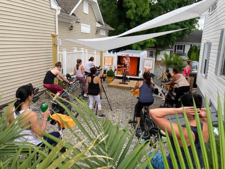 Outdoor/Online Fitness Classes+Spin Bike Rentals