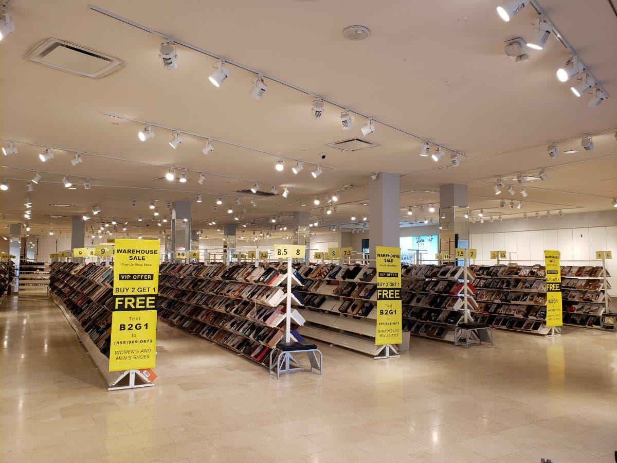 warehouse shoe sale store