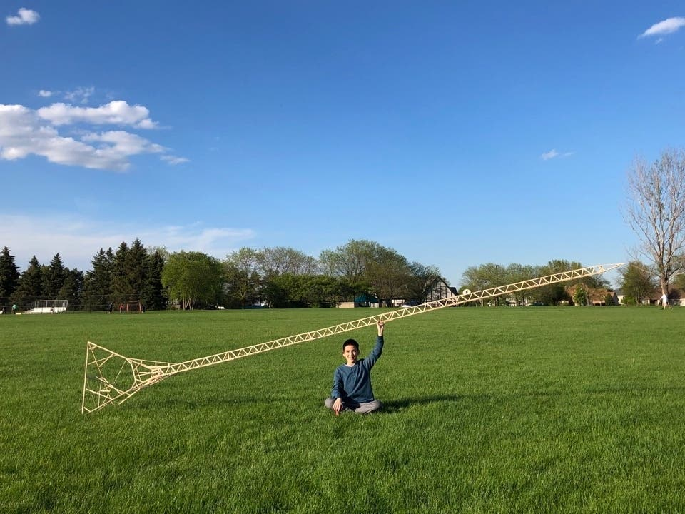 Eric Klabel, a 13-year-old Naperville middle schooler, is the Guinness Book of World Records holder for the tallest Popsicle stick structure.