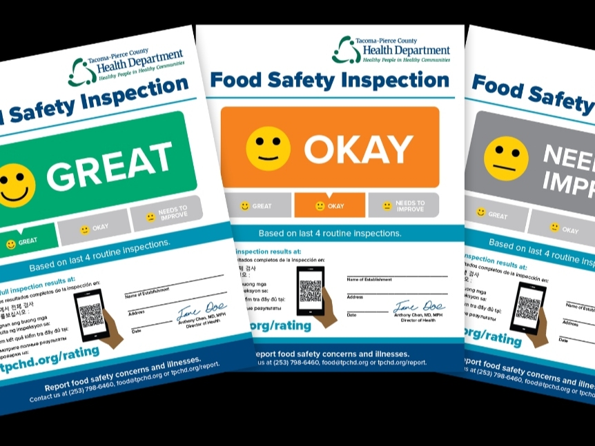 Pierce County Health Department Announces New Food Safety Ratings