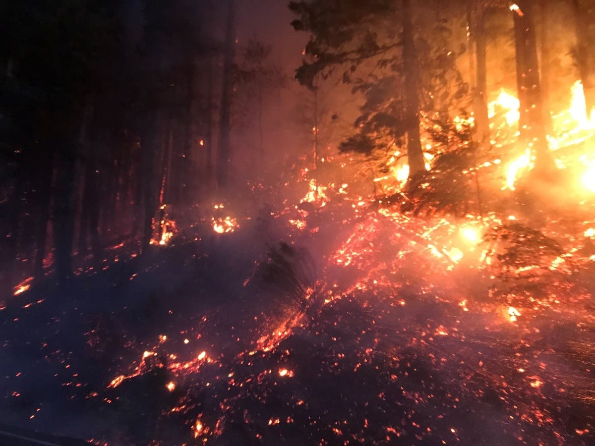 Pierce County Wildfires Force Evacuations Road Closures