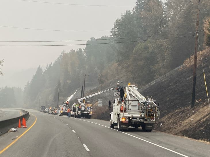 Sumner Grade Fire: Road Closures Lifted, Crews Put Out Hot Spots